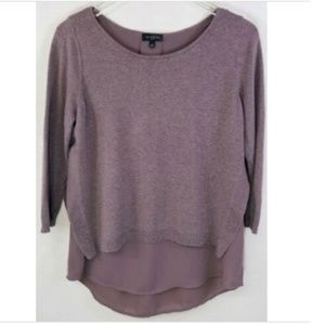 The Limited medium purple layered pullover sweater